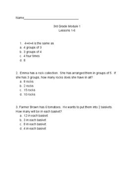 NYS Common Core Eureka Math 3rd Grade Math Module 1 Lesson