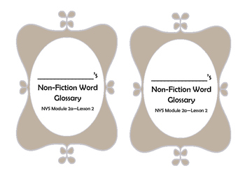 NYS Gr 5 Module 2a Non-Fiction Word Glossary