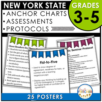 NYS Grades 3-5 ELA Anchor Charts, Assessments, and Protocols
