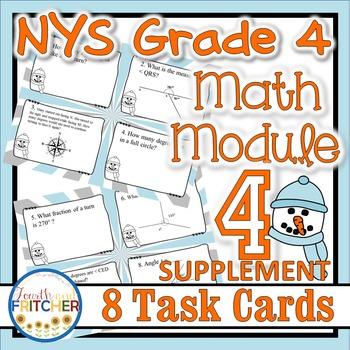 NYS Grade 4 Math Module 4 Task Cards Supplement {FREEBIE}