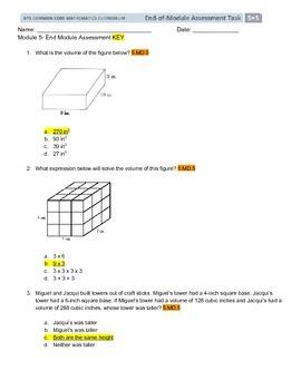 NYS Grade 5 Engage NY Module 5 Assessment/Key/Standards mu