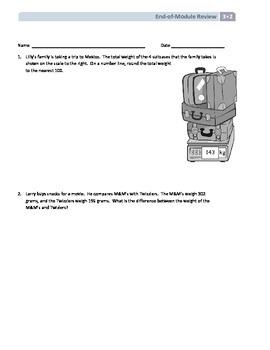 NYS Math - Grade 3 - Module 2 End of Module Review Sheet (