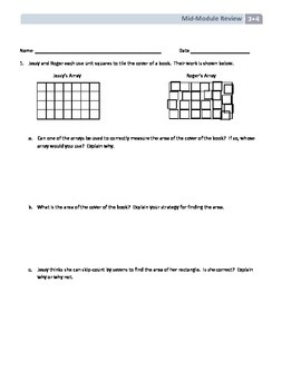 NYS Math - Grade 3 - Module 4 Mid-Module Review Sheet (Wit