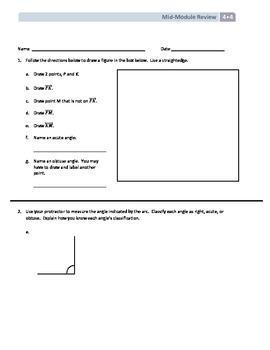NYS Math - Grade 4 - Module 4 Mid-Module Review Sheet (wit