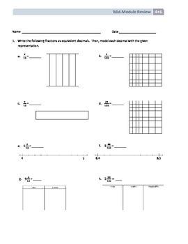 NYS Math - Grade 4 - Module 6 Mid-Module Review Sheet (wit