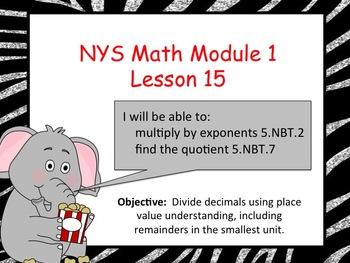 NYS Math Module 1 Lesson 15 Grade 5