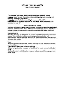 NYS US History Regents Essay Prep Activity