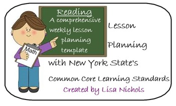 NYS CCLS Weekly Planner for Reading & Second Grade