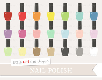 Nail Polish Clipart; Makeup