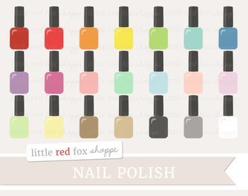 Nail Polish Clipart; Makeup