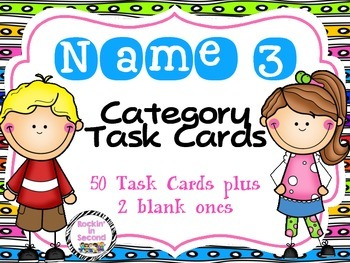 Name 3 Category Task Cards