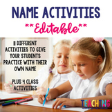 Name Activities - Editable!!