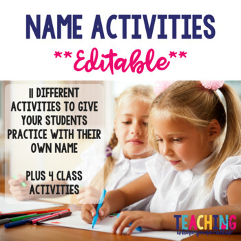 Name Activities - Editable!!