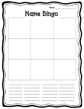 Name Bingo - EDITABLE