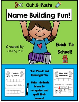 Name Building Fun- Cut & Paste for Pre-K and K