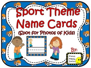 Name Cards ~ Sport Theme