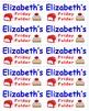 Name Labels for Friday Folders-Type Names-Comic Sans Font