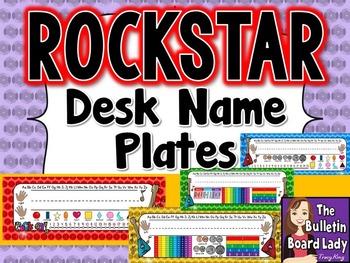 Name Plates Rock Star Theme