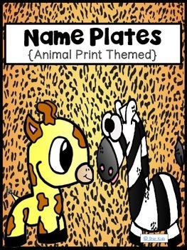 Name Plates {Animal Print Themed}
