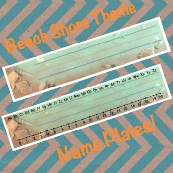 Name Plates - Beach Shore Theme