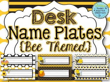 Name Plates {Bee Themed}