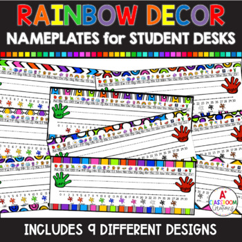 Name Plates:  Classic Colors with White  Background