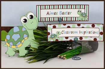 Name Plates – Editable Labels - Coordinates with Turtle Ti