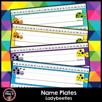 Bug Name Plates