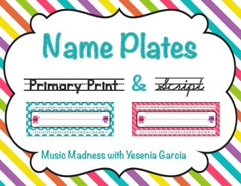 Name Plates - Monster Themed (42 Designs)