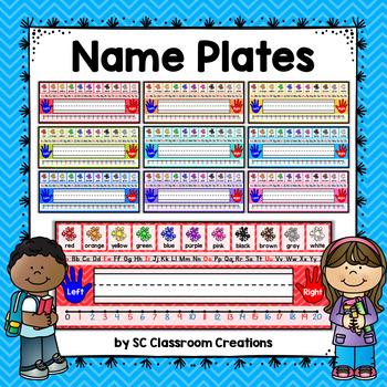 Chevron Name Plates (9 colors)