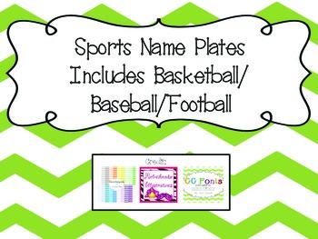 Name Plates- Sports
