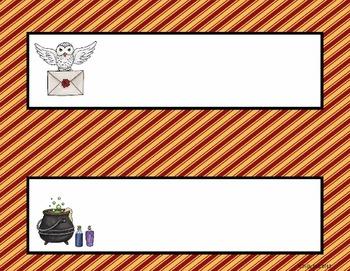 Name Plates:  Wizard Theme Set 4 (EDITABLE!)