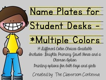 Name Plates for Student Desks/Tables - Multiple Colors!