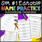 Name Practice {Editable} Standard Print