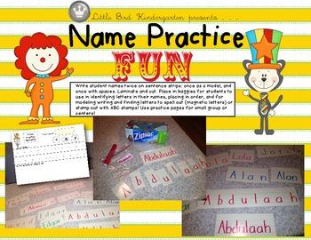 Name Practice Fun