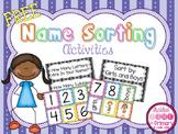 Name Sorting Activities