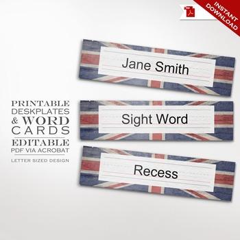 Deskplate Word Wall - Union Jack