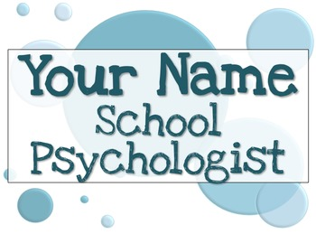 Name Tag Sign - Teal