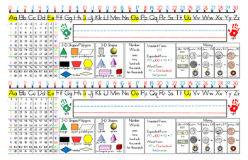 """Name Tag for Second Grade (11""""x17"""") for Everyday Mathemati"""