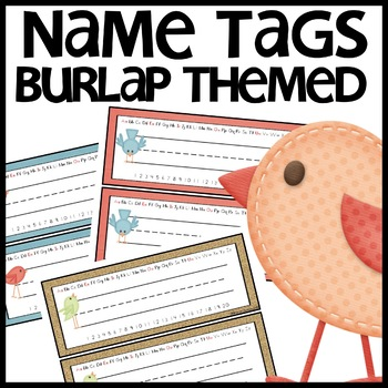 Name Tags (Burlap)