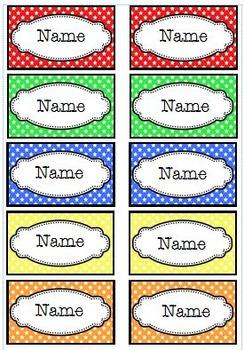 Name Tags - Dots