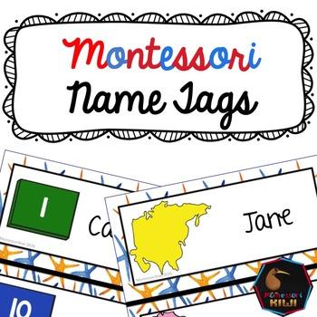 Name Tags - Montessori themed