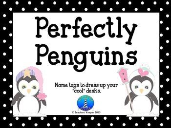 Name Tags - Perfectly Penguins FREEBIE!