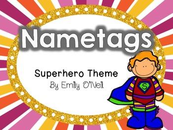 Name Tags (Superhero Theme)