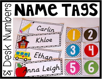 Name Tags and Desk Numbers
