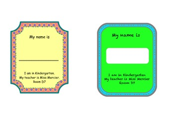 Name Tags for ALL!