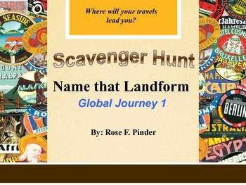 Name-That-Landform QR Code Scavenger Hunt