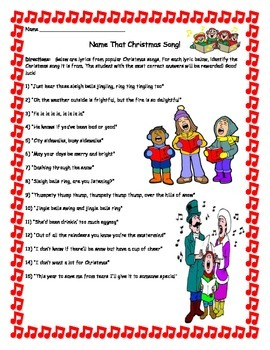 Name That Christmas Song!  Activity- 15 Songs