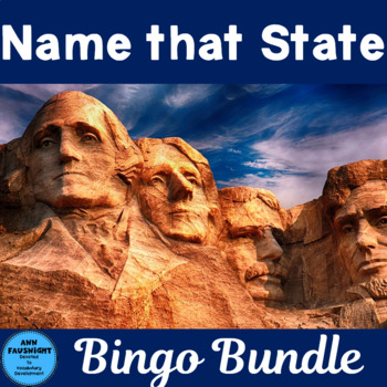 Name That State Bingo - 2 Complete Games