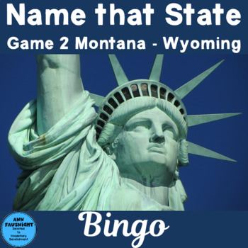 Name That State Bingo Game  2 (Montana - Wyoming)